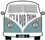 IT's A DUB THING Slogan For Retro SPLIT SCREEN VW Camper Van Bus Design External Vinyl Car Sticker 90x80mm